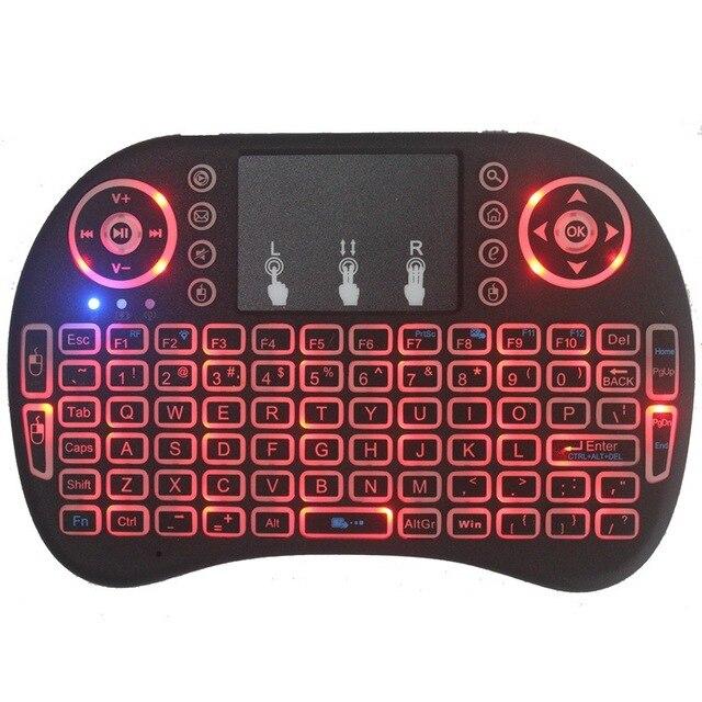 Novo 2014 rato de ar 92 chave mini portátil 2.4ghz inglês layout teclado touchpad mouse controle remoto do jogo teclado sem fio