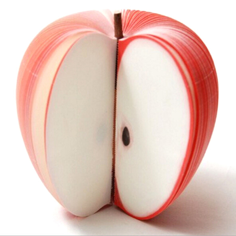 1pc Memo Pad Creative Apple Shape Notepads Post Sticky Apple Note Memo Pads Portable Scratch Paper