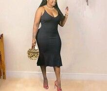 AYES XL-4xl Plus Size Dress Women Clothing Solid Bodycon Stretch Midi Casual Summer Slip Dress Vestidos Elegantes Para Mujer