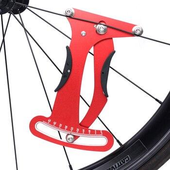Herramienta de corrección de bicicleta SR-SPATS, medidor de tensión, juego de comprobador de radios de rueda de alambre, herramientas de medición precisas de llanta de bicicleta