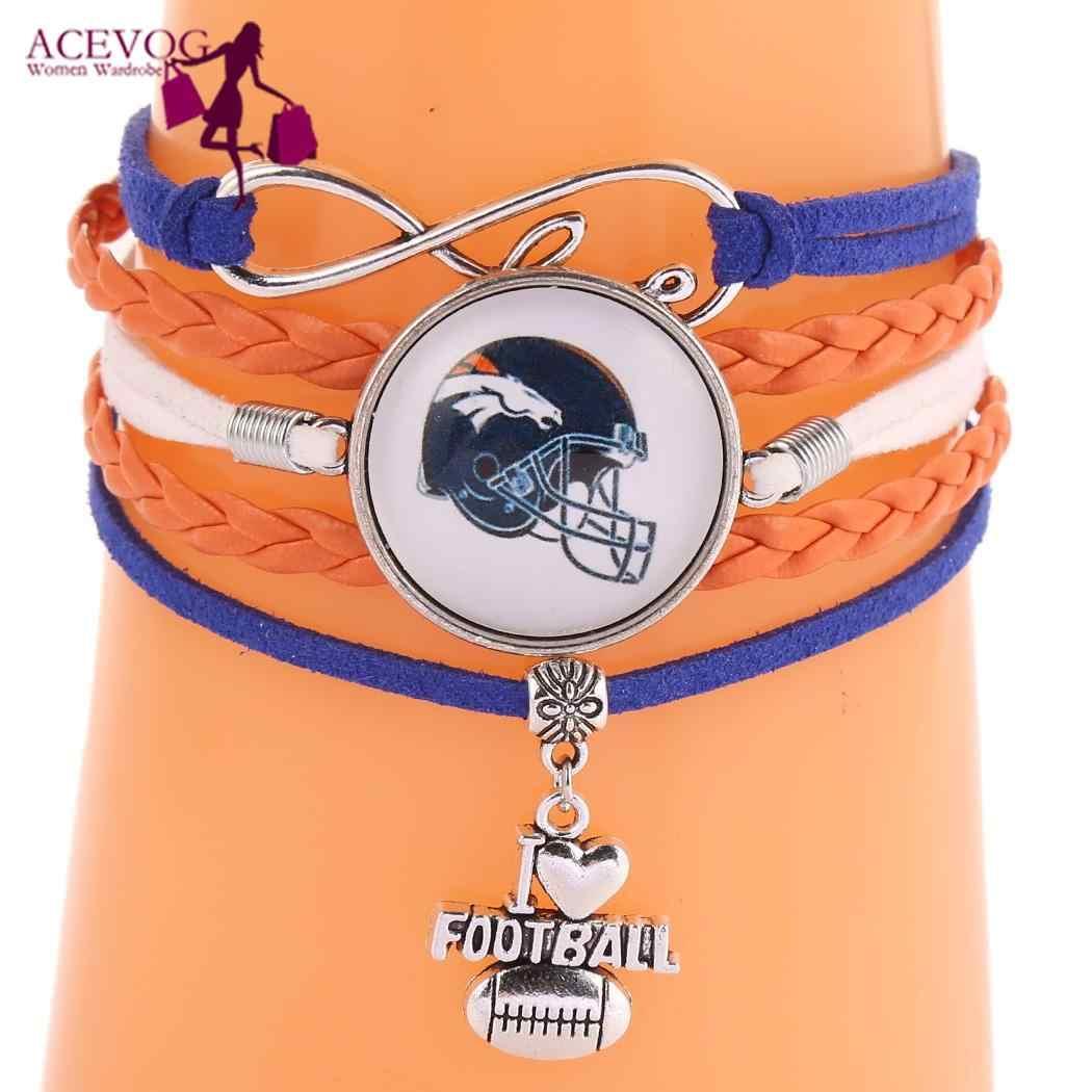 Masculino feminino rugby esporte pulseira trançado charme pulseira pulseiras série jóias casual, festa, praia, esporte, etc.