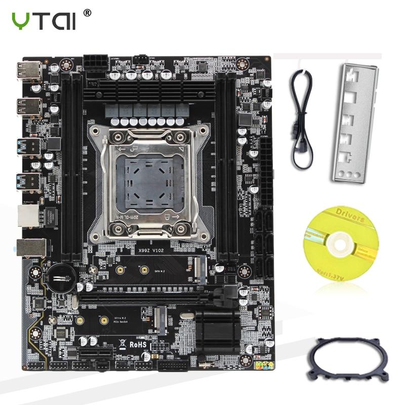 X99 Motherboard  LGA 2011-3 LGA 2011 M.2 NVME Support DDR4 64GB ECC REG Memory USB 3.0 X99Z V102 100% Tested Intact