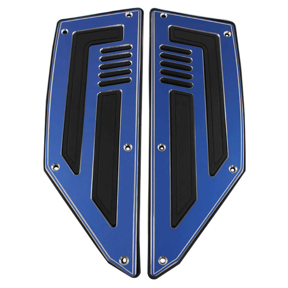 Motorcycle Driver foot pedal Footrest Pegs Plate Pads YAMAHA TMAX530 TMAX 530 T-MAX 530 2012 2013 2014 2015-2016 Blue