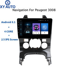 9 inch 2.5D IPS Tempered HD multi-touch screen Android 8.1 NAVI for Peugeot 3008 2009-2015 Automatic AC with BT USB WIFI SWC(China)