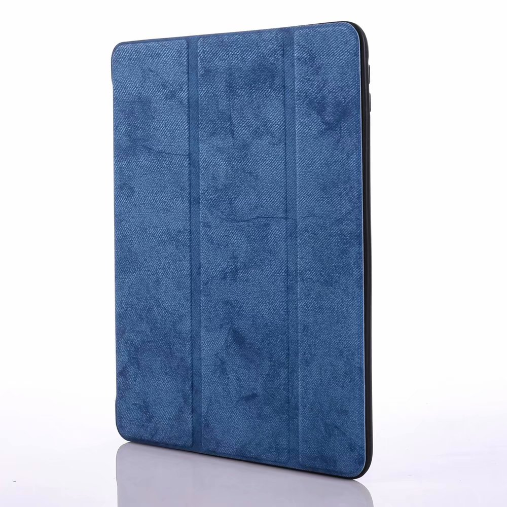 for iPad 12.9 Blue Navy Blue For iPad Pro 12 9 2020 Case Pencil Holder Smart Trifold Case Cover Auto Sleep Wake