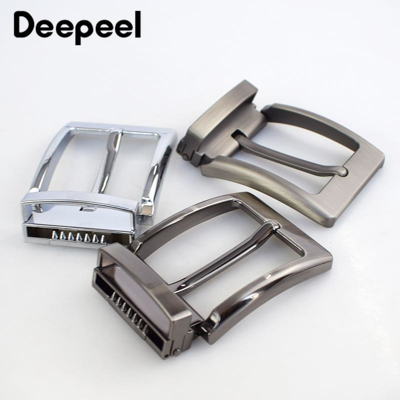 Meetee 40mm Width Hot Sale Men's Metal Belt Buckles Pin Buckle Belt Head DIY Clothing Accessory Leathercraft For 3.8-3.9cm Belt