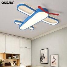 الحديثة الأطفال أضواء السقف طائرة الكرتون طفل الفتيان الفتيات الأزرق طائرة مصباح غرفة النوم الإضاءة الإضاءة الزخرفية