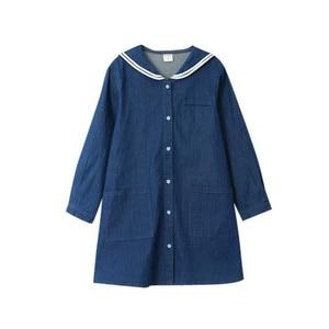 Image 3 - Loose Baby Princess Dress Autumn 2019 Cotton Kids Dresses for Girls Children Jeans Dress Teenager Toddler Clothes Soft,#8001