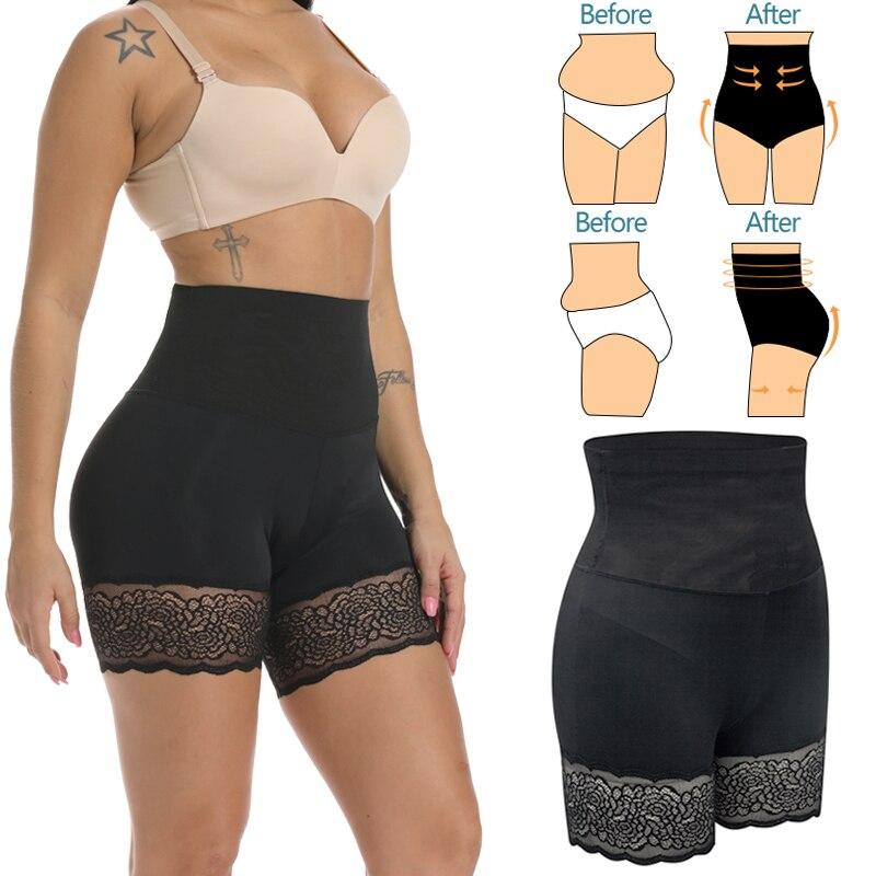 High Waist Shapewear Waist Trainer Body Shaper Butt Lifter Tummy Control Reducing Panties Shaping Modeling Girdles Slim Shorts