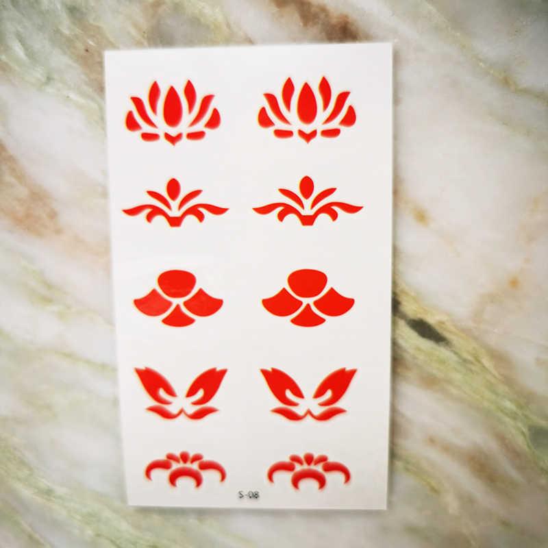 Waterdichte Tijdelijke Tattoos Sexy Vrouwen Chinese Stijl Tatuajes Fake Tattoo Sticker Voorhoofd Vertaling Cool Ding Body Art Mannen