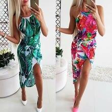Модное женское летнее богемное Цветочное платье праздничные