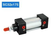 Factory hot saleSC32X175 Bore 32mm Stroke 175mm Aluminum Alloy air piston cylinder telescopic high pressure cylinder