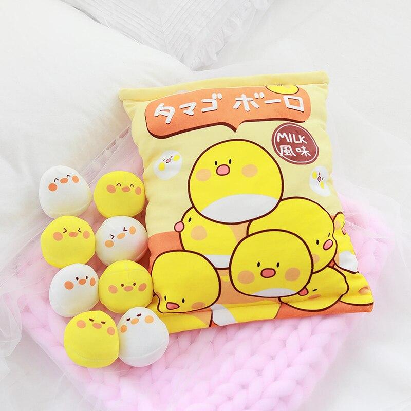 EINE Tasche von 8 stücke Weichen Hühner Pinguin Kaninchen Bär Snack Plüsch Spielzeug Gefüllte Puppe Kissen Kreative Anime Spielen Cartoon spielzeug Für Kinder