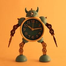 Deformation robot alarm clock creative student small alarm clock cute children cartoon alarm clock clock clock metal alarm table цена в Москве и Питере
