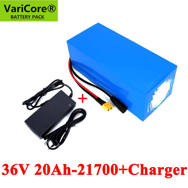 VariCore <font><b>36V</b></font> 20Ah battery 21700 10S4P 500W high power batteries 42V 20000mAh Ebike electric bicycle with BMS Protection+Charger image