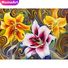 MomoArt 5d Diamond Painting Flower Embroidery Scenic Mosaic Full Drill Square Home Decoration
