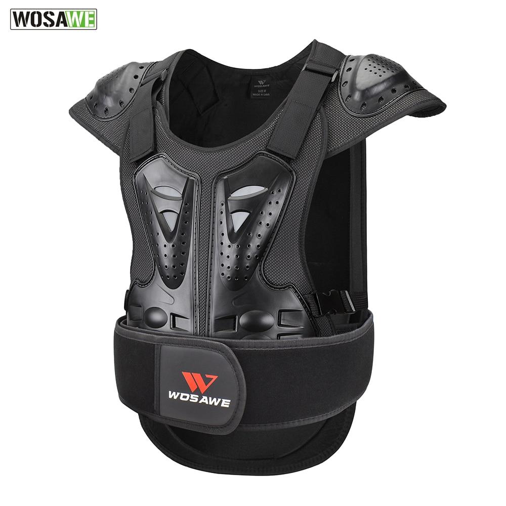 WOSAWE adultes moto rcycles armure équipement de Protection moto course tout-terrain vtt Sports de plein air veste de Protection corps garde