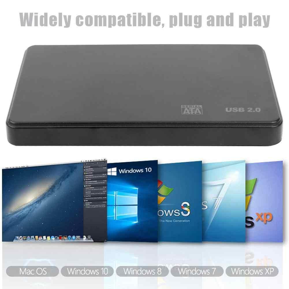 """Caja de unidad del disco duro de 2,5 pulgadas, portátil, SATA USB2.0, herramienta libre, disco SSD HDD, caja externa de 2,5 """", carcasa de disco duro Caddy para PC"""