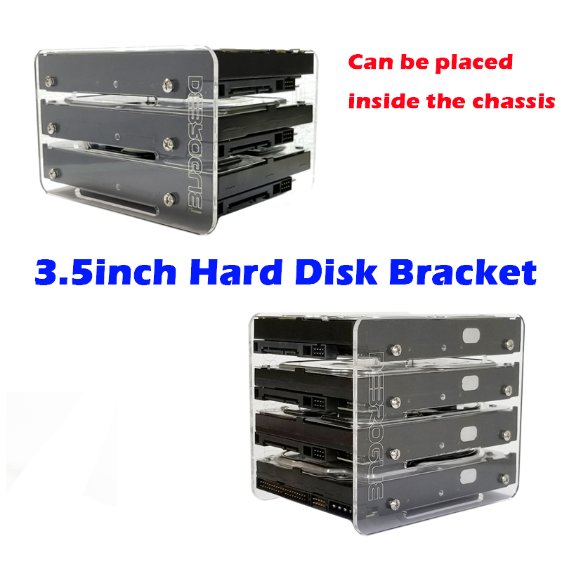 DIY3 5 inch hard disk HDD acrylic bracket hard disk box external hard disk 4F