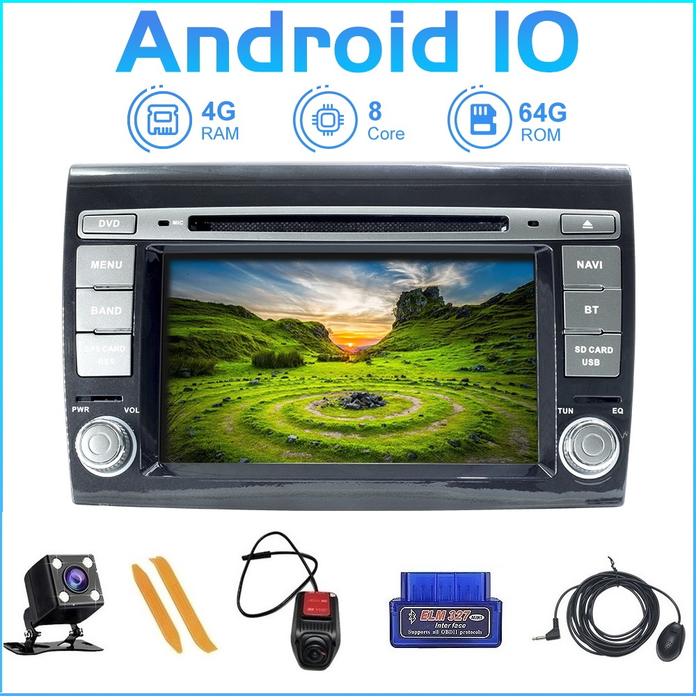 ZLTOOPAI Android 10.0 For Fiat Bravo 2007 2008 2009 2010 2011 2012 Auto Radio GPS Navigation Car Multimedia Player image