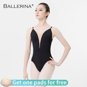 Image 1 - Ballerina ballet practice leotard for Women Dance Costume girls Sling gymnastics Adulto Adjustable shoulder strap Leotards 5085