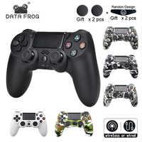 DATA FROG inalámbrico Bluetooth Gamepad para SONY Playstation 4 PS4 controlador con cable/Joystick inalámbrico para Dualshock 4 Gamepad