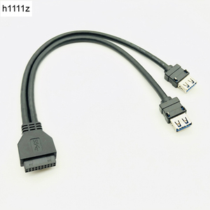 USB-разъем для кабеля USB 3,0, для ПК, Фронтальная панель, usb-хаб, USB 3,0, 20-контактный разъем, двойной порт, USB 3, адаптер с фиксированной стопой для кр...
