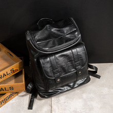 women leather Simple lady bag washed with water and inclined Japanese Korean style one-shoulder envelope package