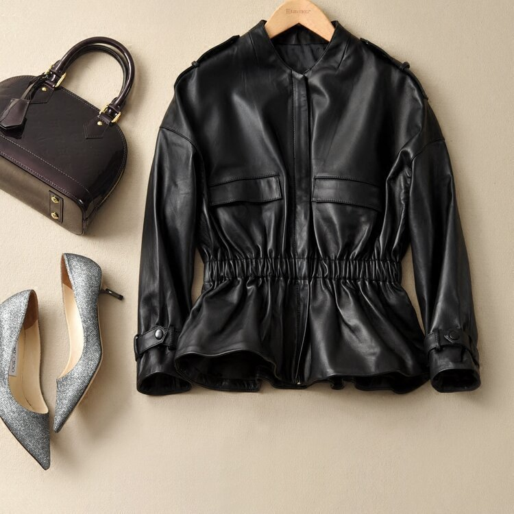 Sheepskin Real 100% Coat Female Genuine Leather Jacket 2020 Spring Autumn Jacket Women Korean Jackets Veste Femme MY3525 S