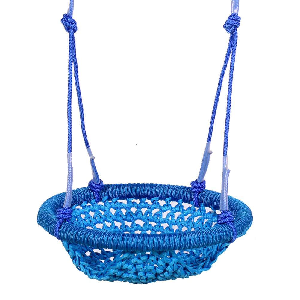 Adjustable Swing Seat With Rope Hand-Knitting Round Children Swing Chair Swing Seats For Backyard Porch Playground Accessories