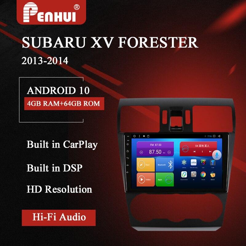 Автомобильный DVD для Subaru XV Forester (20130-2014) Автомобильный Радио Мультимедиа Видео плеер навигация GPS Android 10,0 двойной din