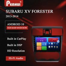 Dvd do carro para subaru xv forester (20130-2014) rádio do carro reprodutor de vídeo multimídia navegação gps android 10.0 duplo ruído