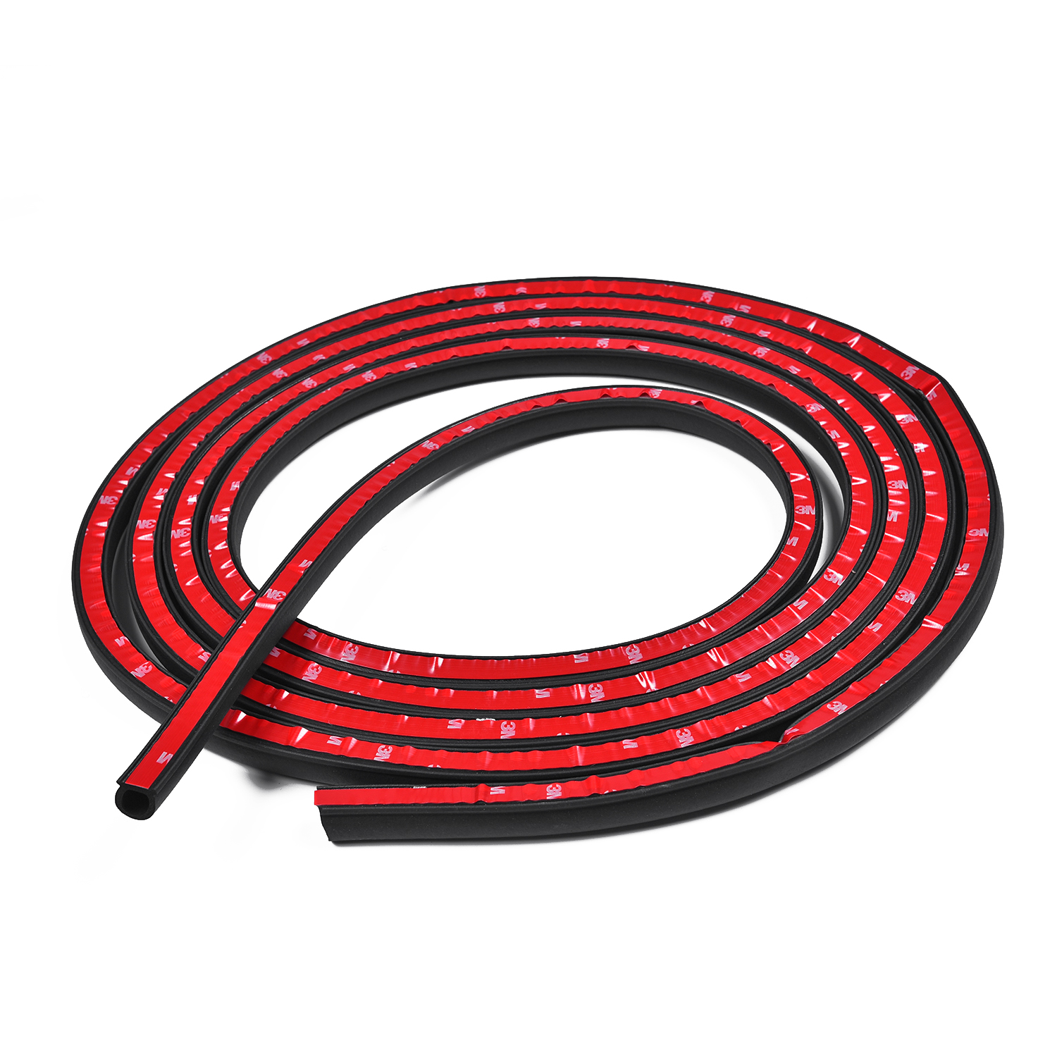 Car Seal Strip Black Small D Shape Truck Protection Rubber Weather Auto
