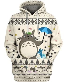 цена на Totoro 3D All Over Printed Hoodies/Sweatshirt/Zipper Jacket Men Women Fashion Anime Tops