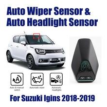 รถสมาร์ทขับรถ Assistant ระบบสำหรับ Suzuki Ignis 2018 2019 อัตโนมัติอัตโนมัติฝนใบปัดน้ำฝน SENSOR & ไฟหน้าเซ็นเซอร์
