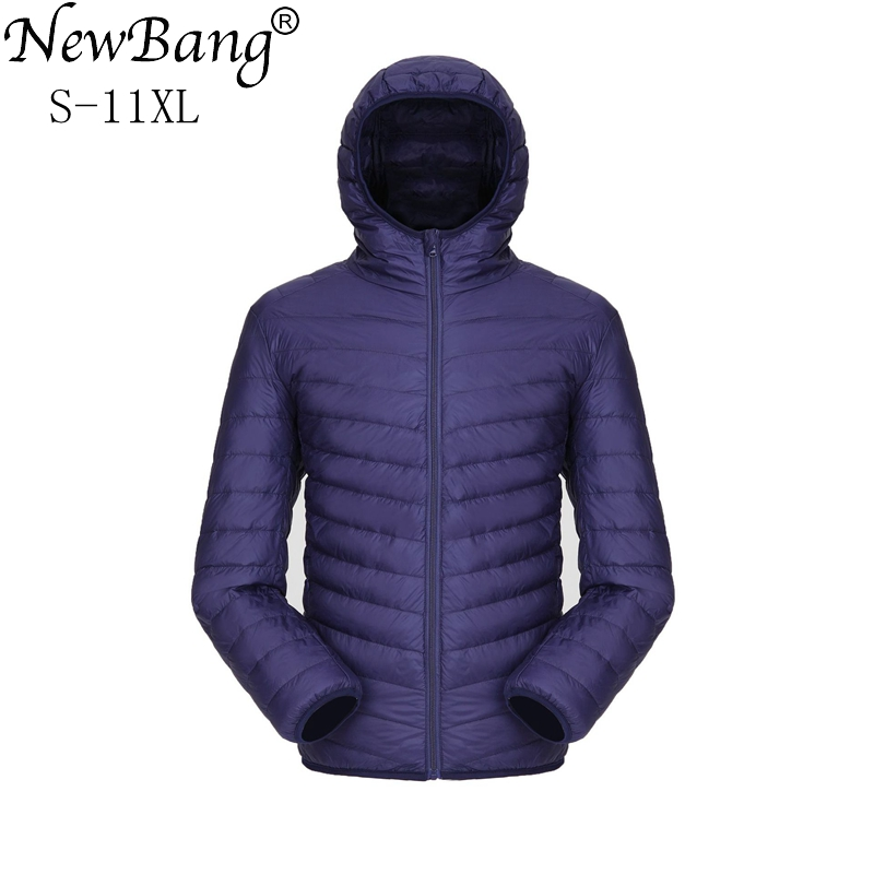 NewBang Plus 11XL 10XL 9XL Ultra Light Down Jacket Me  Down Jacket  Windbreaker Feather Parka Man Winter Large Size Outwear