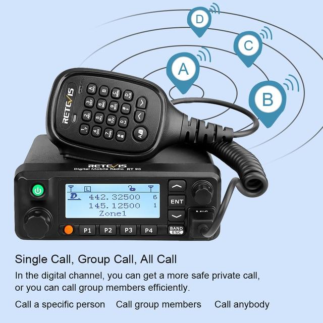 Фото цифровой мобильный радиоприемник retevis rt90 dmr gps двухдиапазонный цена