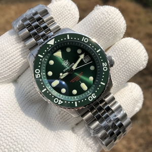 Steeldive 1996 Japan Skx007 Mechanical Wristwatch Abalone 316L Stainless Steel Dive Watch 200m Ceramic 20bar Diver Watches Mens