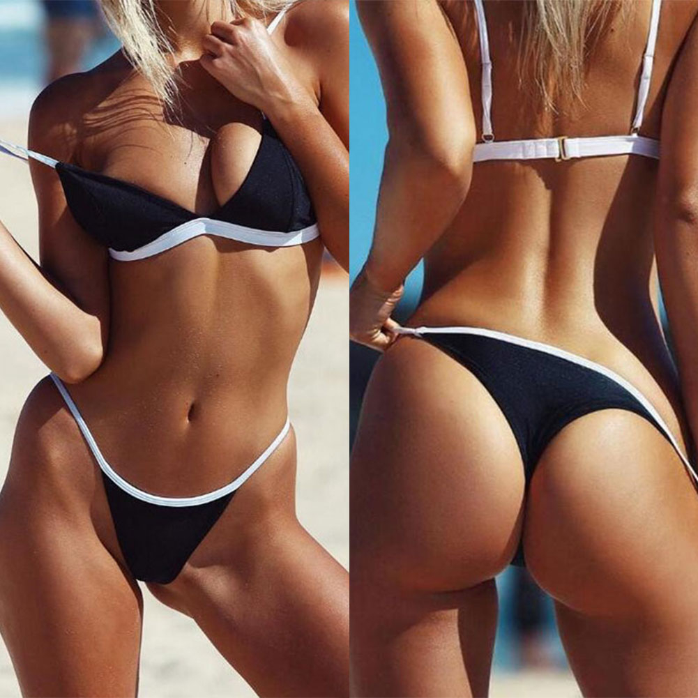 Bathing Suit Women Sexy Beach Solid Set Push Up Pleated Bikinis Women Swimming Suit Swimsuit Bikini Swimwear 3