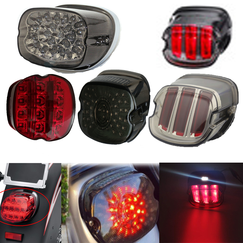 Smoke/Red Tail Light LED Integrated Turn Signal Brake Lamp For Harley Fatboy, Sporster, Dyna, Road King,Glides,Fatboy XL883 1200