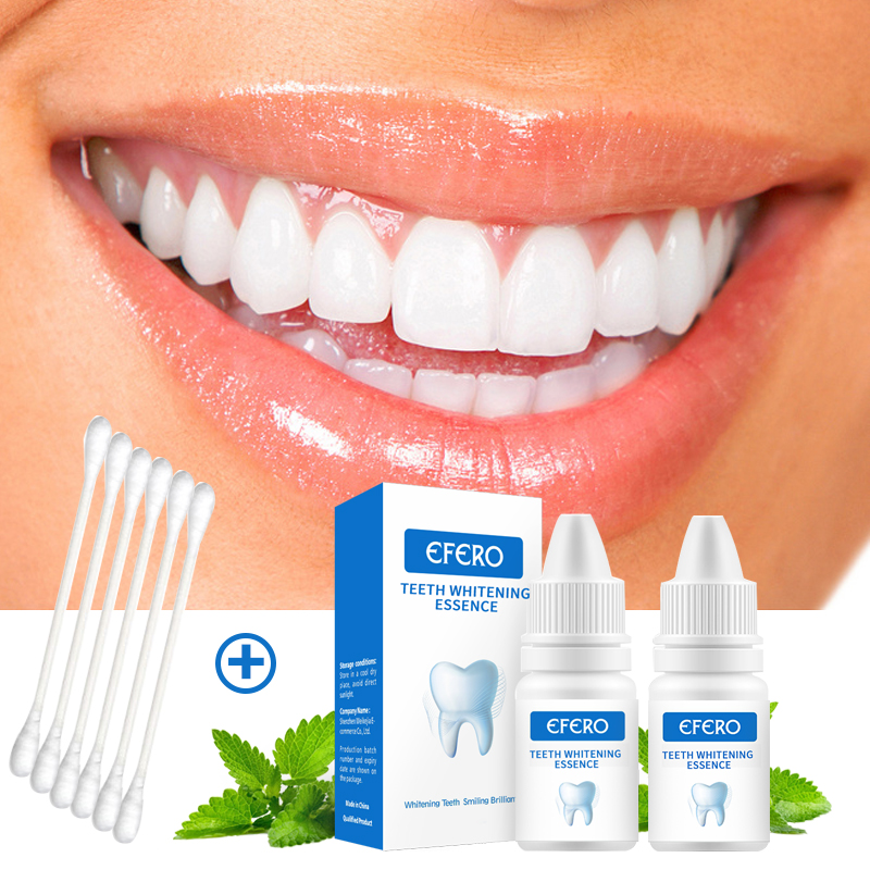 EFERO Teeth Whitening Serum Bleaching Dental Tools Remove Teeth Stains Brighten Yellow Tooth Care Oral Hygiene Cleaning Essence