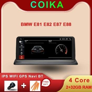 Автомобильная стерео система GPS Navi, Android 10,0 для BMW E81 E82 E87 E88 2005 2012 WIFI Google SWC BT Music 2 + 32G RAM IPS сенсорный экран