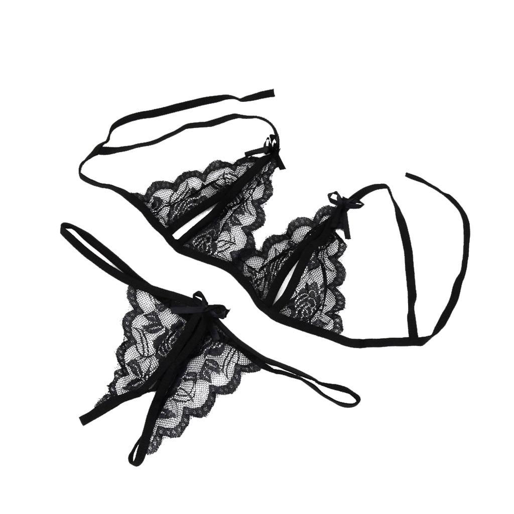 In stock Women Lady Sexy Solid Casual Lingerie Lace Underwear Sleepwear G-string low waist Lingerie Comfortable топ женский D