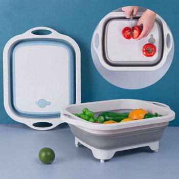 Silikonowa deska do krojenia deska do krojenia składana deska do krojenia drenaż umywalka umywalka kuchnia deska do krojenia deska do krojenia tanie i dobre opinie CN (pochodzenie) Deski do siekania mięsa