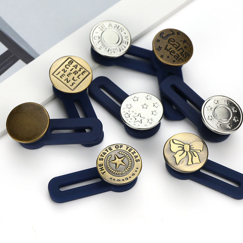 New Hot 10pcs Jeans Retractable Button Adjustable Detachable Extended Button For Clothing Jeans YAA99