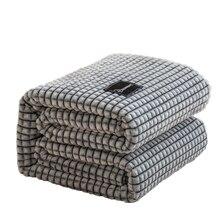 Bonenjoyチェック柄ベッドサンゴフリース毛布グレー色毛布シングル/女王/王フランネルベッドソフト暖かい毛布ベッド