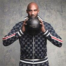 Street Men Fashion Pack Zipper Jacket Print + Sports Casual Pants Two Sets