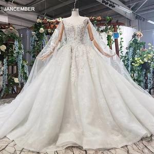 Image 1 - HTL578 detachable mantle wedding dresses big v neck spaghetti straps lace up back summer bridal gowns robe de mariee boheme