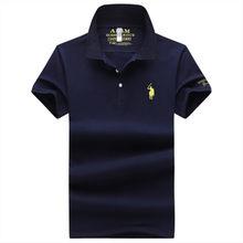 2021 nova primavera camisa polo masculina casual moda masculina topo clássico bordado camisa polo masculino verão de negócios manga curta