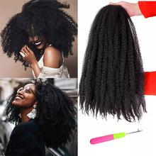 Kong & li 18 дюймов marley косы волосы для афро кудрявые синтетические